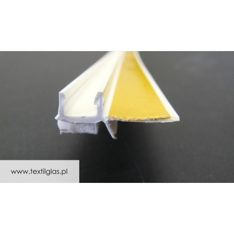 Listwa przyokienna PCV z uszczelką do tynku 6 lub 9 mm - APU 6 U/ APU 9 U